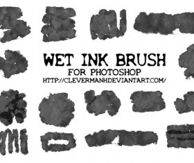 Wet Ink Photoshop Brushes