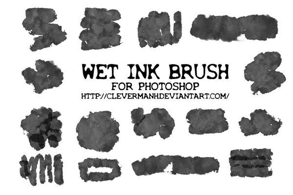 Wet Ink Photoshop Brushes