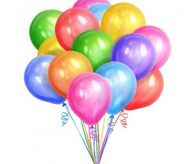 White background with colorful balloon vector
