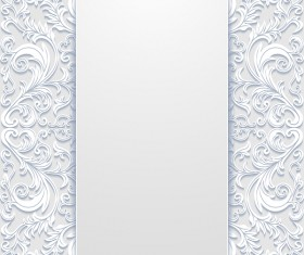 White hollow floral background vectors 10
