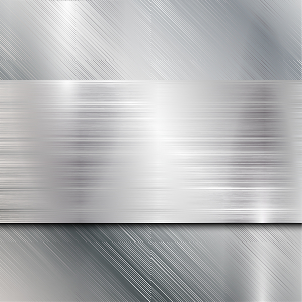 White metal texture background vector