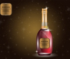 Wine poster template with bottle vector 22