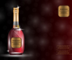 Wine poster template with bottle vector 25