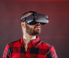 With VR glasses of men Stock Photo 02