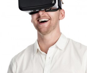 With VR glasses of men Stock Photo 04