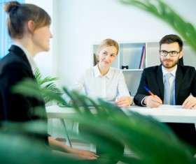 Woman working interview HD picture