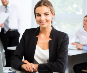 Women working in the office Stock Photo