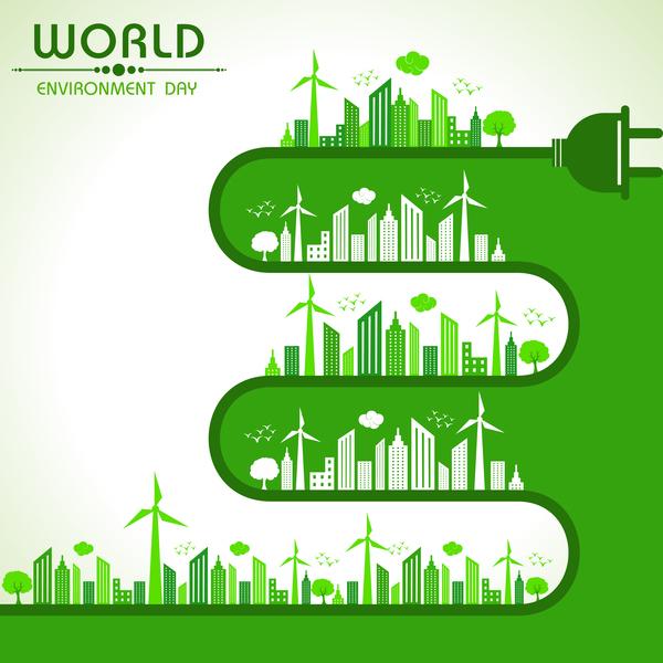World environment day poster design vector