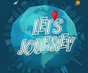 World journey vector design