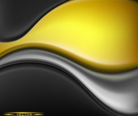 Yellow with black abstract background vector