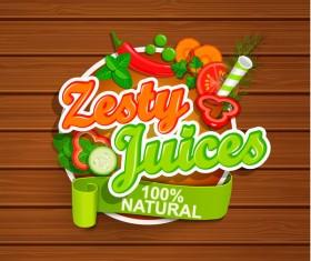 Zesty juices sticker vector