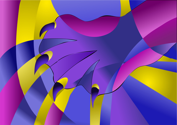 abstract cat paw background vector