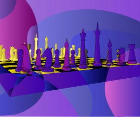 abstract chess background vector