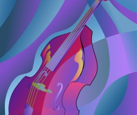 abstract contra bass background vector