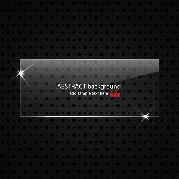 abstract metal background with glass plate vector