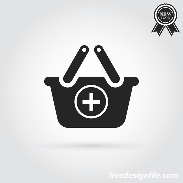 add shopping baskets icon
