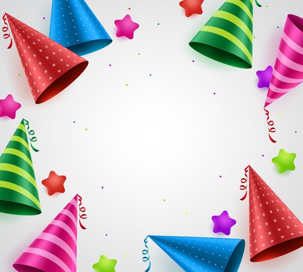birthday frame vector material