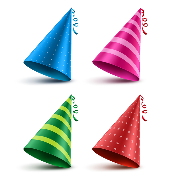 birthday hat illustration vectors