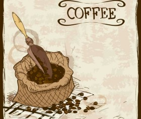 coffee poster retro hand drawn vector 01