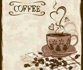 coffee poster retro hand drawn vector 02