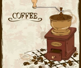 coffee poster retro hand drawn vector 06