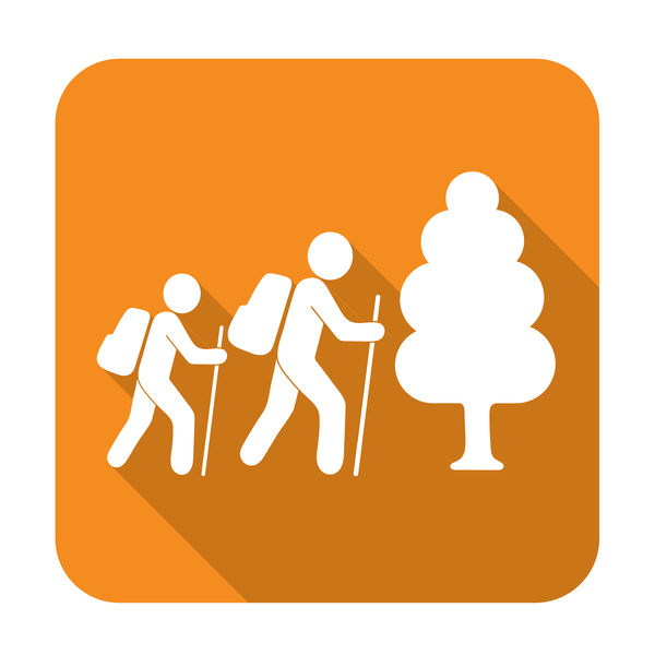 forest tourists icon