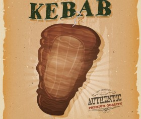 grill kebab poster and flyer retro vector
