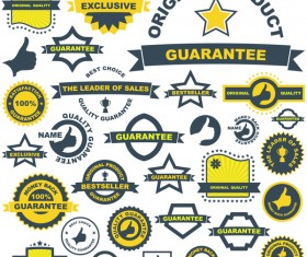 guarantee labels with bacge vintage vector