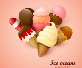 ice cream madness vector background