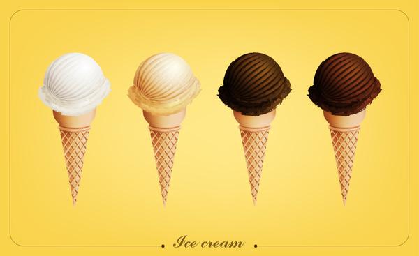 ice cream milk vector