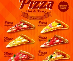 menu pizza illustration vector material