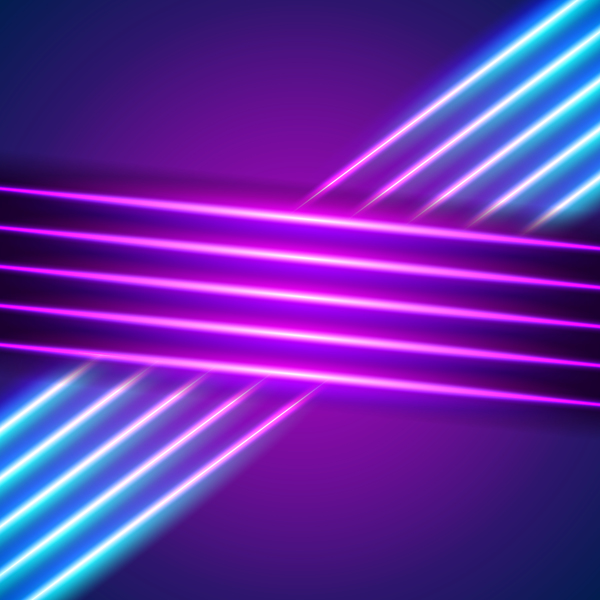 neon lines background vector design