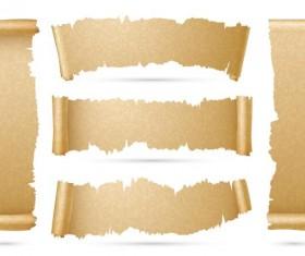 parchment scrolls banner vector