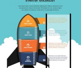 start up checklist infographic vector