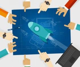 start up design template vector