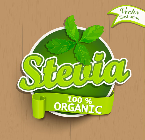 stevia sticker vector