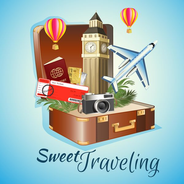 sweet traveling vector material
