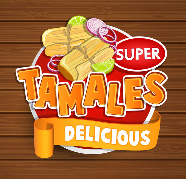tamales sticker vector