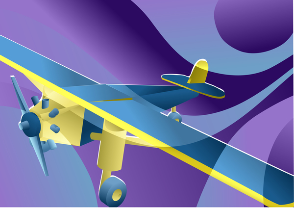 toy plane background vector