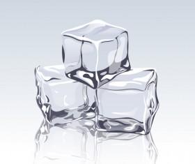 transparent ice cubes design vector