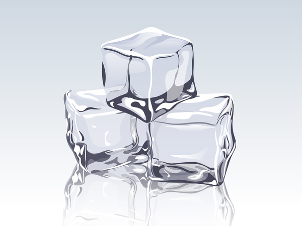 transparent ice cubes design vector free download