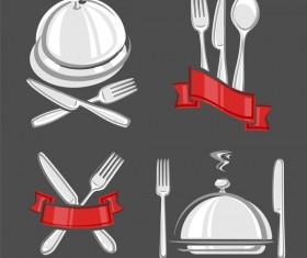 vector restaurant labels set
