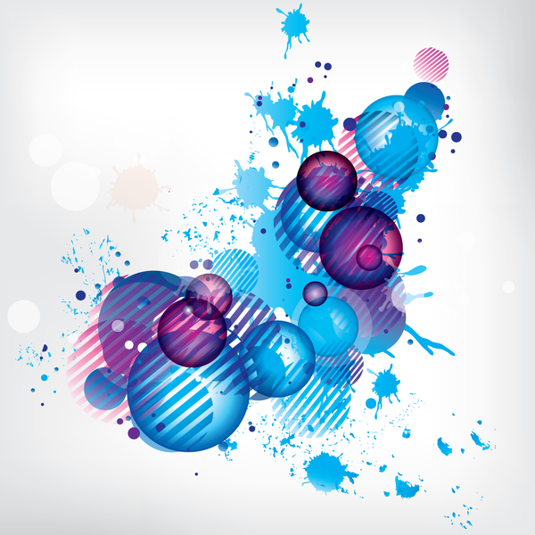 3D ball with ink grunge background vector