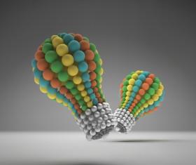 3D lightbulb illustration with idea template vector 14
