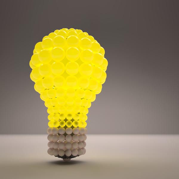 3D lightbulb illustration with idea template vector 16
