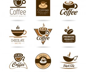 6 Kind coffee logos creative vector