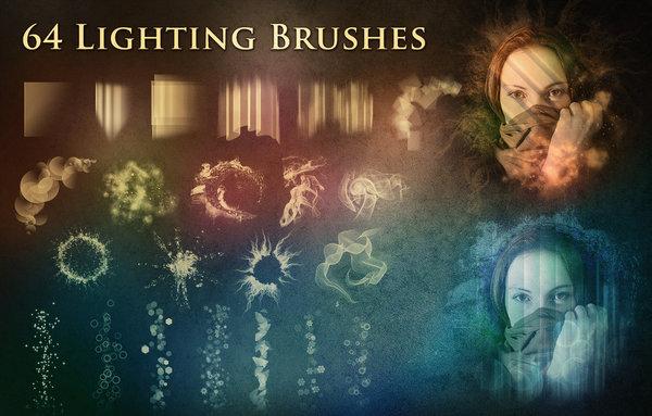 64 Kind Lighting Photoshop Brushes