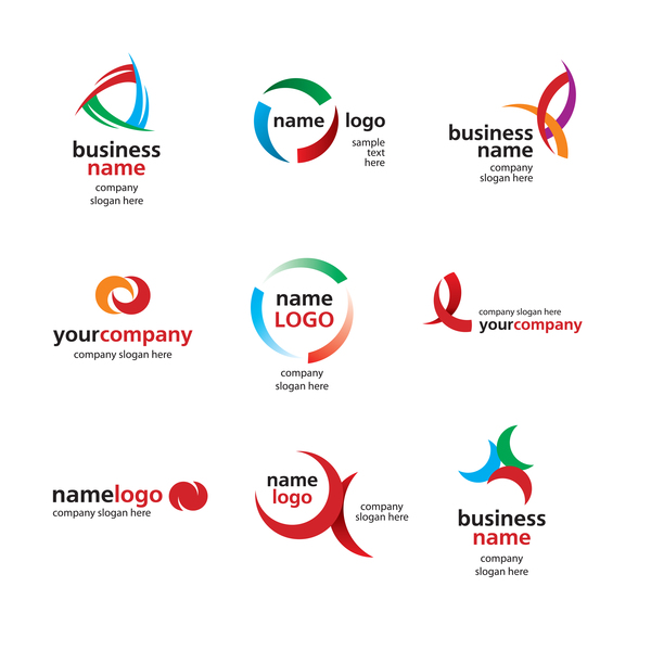 9 business logos design vectors