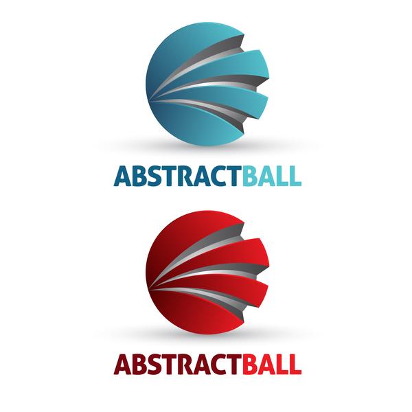Abstract ball logo design vector