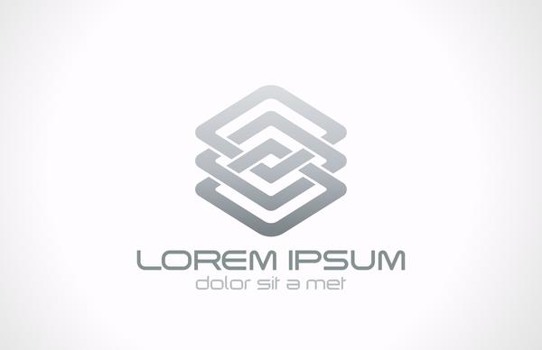 Abstract gray logo design vector
